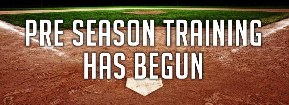 Pre Season Training has begun