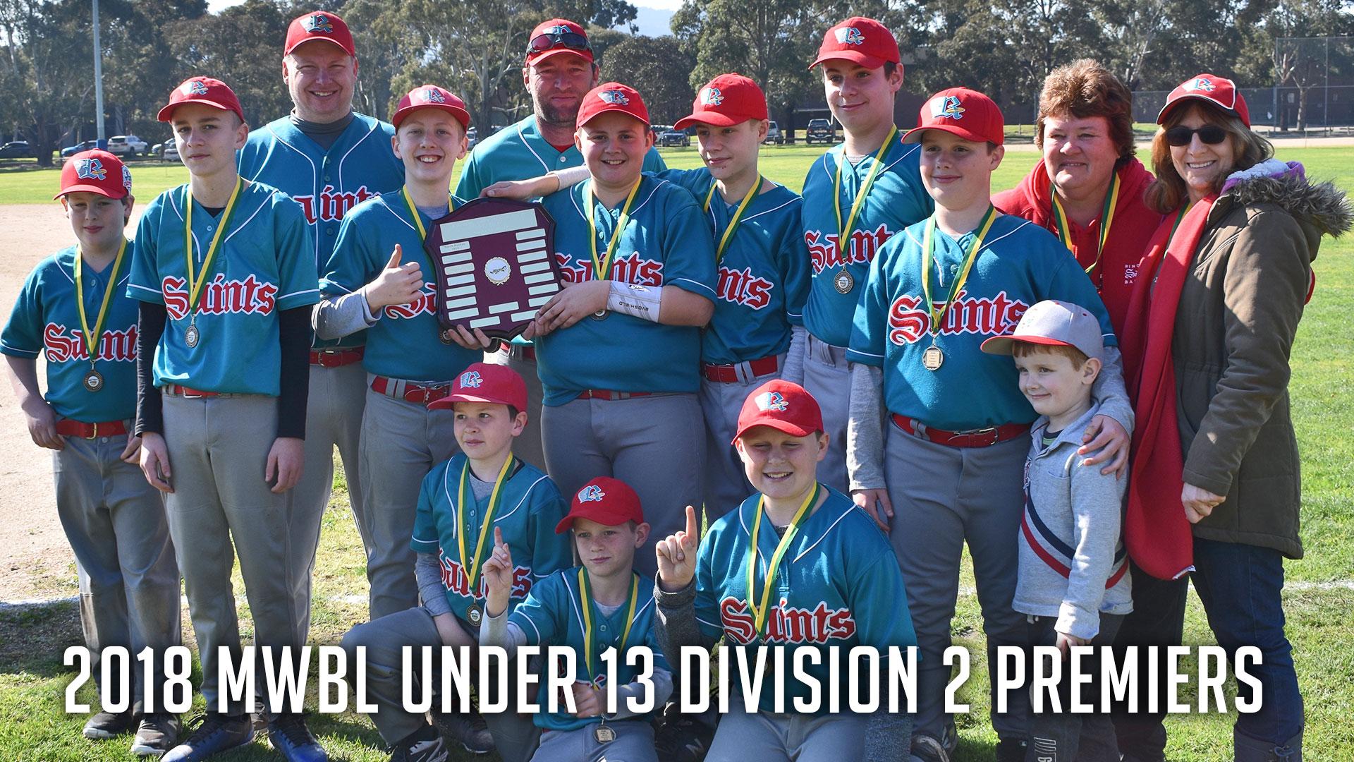 U13 Division 2 Premiers