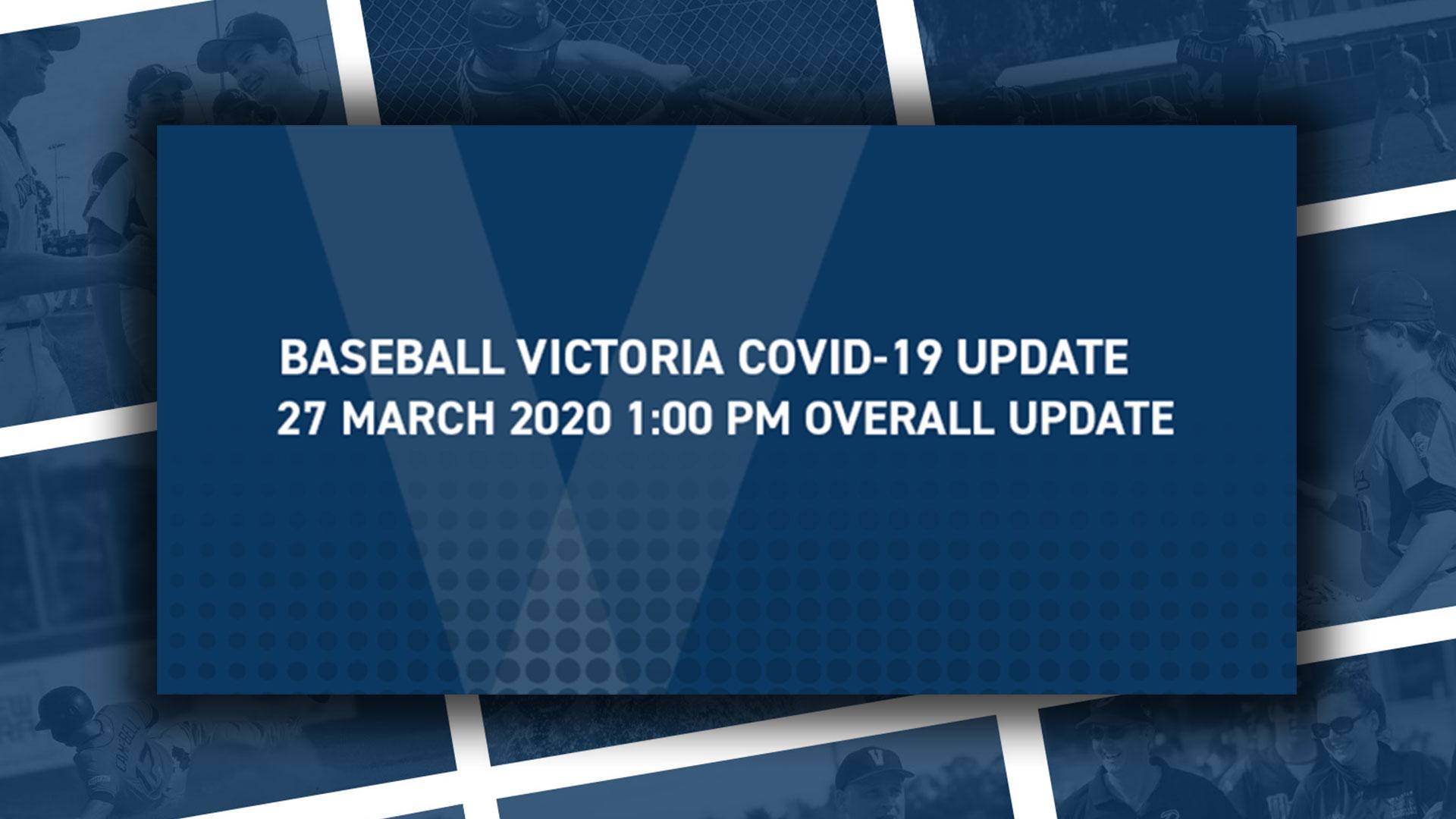 COVID-19 Update 27th March 2020